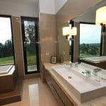 Aluminium Glass Interior Work For Bathroom
